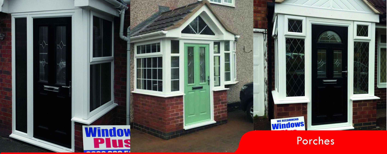 & Entrance Porches u0026 Door Canopies Nuneaton | Windows Plus Nuneaton |